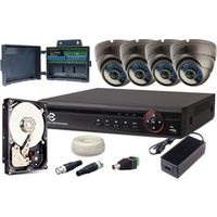 Zestaw monitoringu 4w1 4 kamery 720p + 1tb + rejestrator marki Easycam