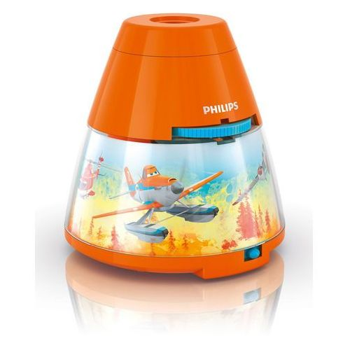 Philips Disney - lampka nocna projektor led pomarańczowy planes wys.11,8cm (8718696122730)