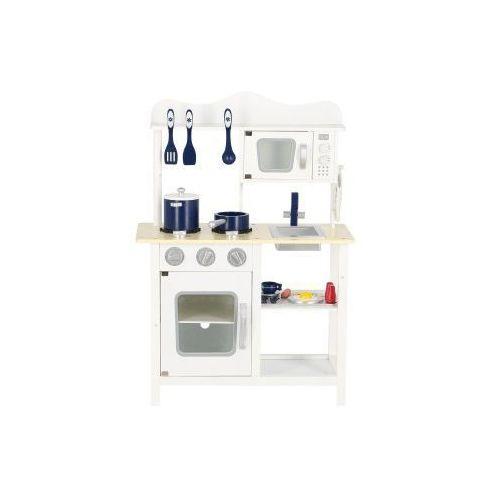 Wooden toys Drewniana kuchnia dla dzieci classic biała z wyposażeniem