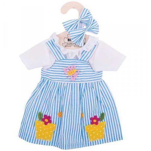 Bigjigs Sukienka dla lalki w paski