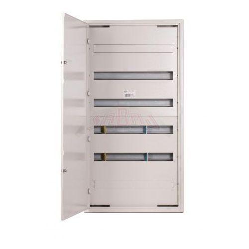 Rozdzielnica modułowa natynkowa 144 moduły IP30 550x1055x132 Biała z zamkiem NRPSM 144 6X24 Z, NRPSM 144 (6X24) Z
