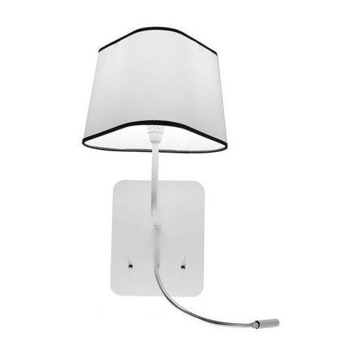PETIT NUAGE - Wiszący kinkiet z lampą do czytania LED Biały/Czarny, Ampnledbbn