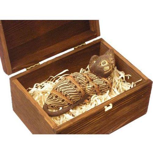 Taktowny prezent rzeźba kot macierzyństwa w prążki marki Wyspa java