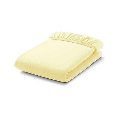 MAMO-TATO Prześcieradło frotte do łóżeczka 60x120cm - CYTRYNOWE