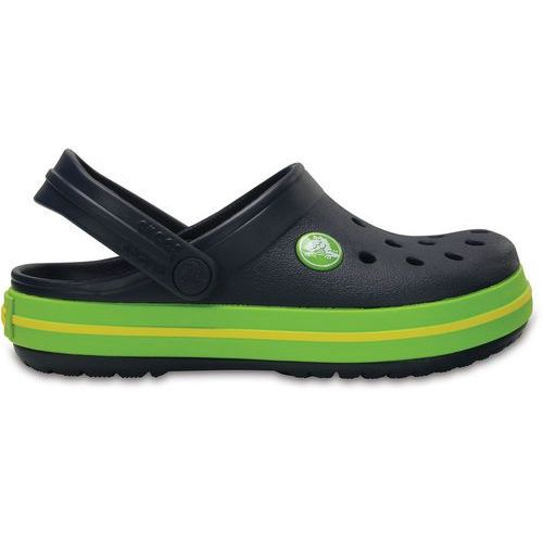 Crocs CROCBAND Sandały kąpielowe navy/volt green, kolor niebieski