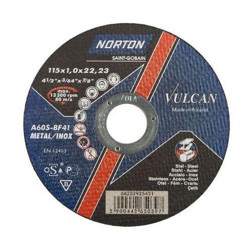Tarcza do cięcia T41 115 x 1.0 x 22.23 STAL NORTON VULCAN (5900442650397)