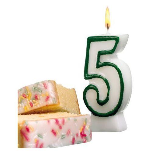 Pelikan Świeczka na tort urodziny cyfra 5 7,7cm susy-card - cyfra 5