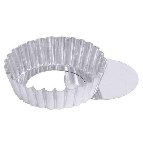 Foremka metalowa falista do ciast z wyjmowanym dnem o średnicy 100 mm   , 738/100 marki Contacto