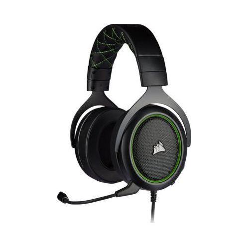 Zestaw słuchawkowy hs50 pro czarno-zielony marki Corsair