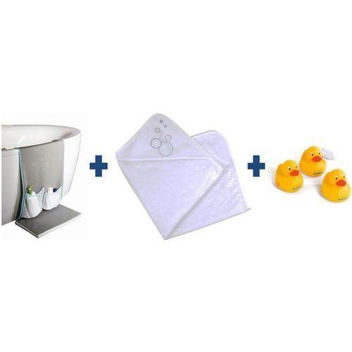 organizer 3 w 1 do wanny z podkładką + ręcznik kąpielowy + kaczuszki marki Candide