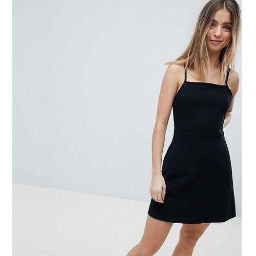 Asos design petite mini square neck skater dress - black, Asos petite