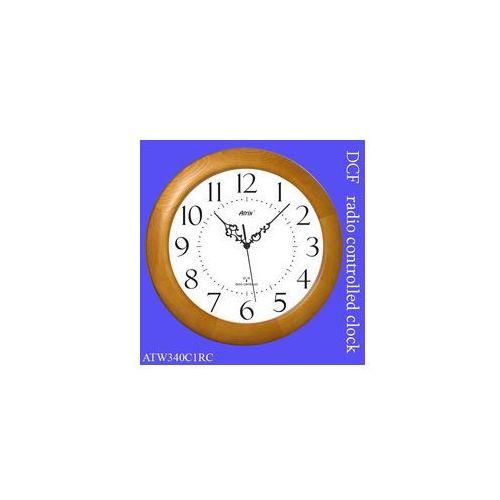 Atrix Duży zegar drewniany sterowany radiowo #1