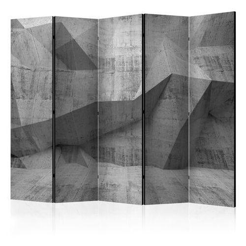 Parawan 5-częściowy - betonowa geometria ii [room dividers] marki Artgeist