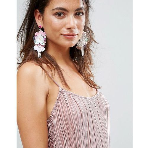 Johnny Loves Rosie Flower Statement Earrings - Pink
