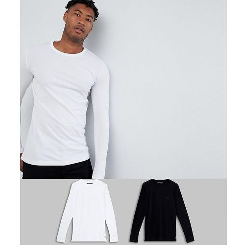 tall 2 pack crew neck long sleeve top - white, French connection, S-XXL