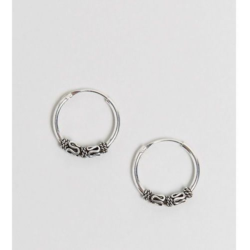 sterling silver 14mm wire wrap hoop earrings - silver marki Kingsley ryan