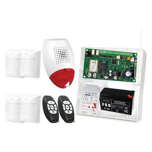 Zestaw alarmowy: Płyta główna MICRA, 2x Pilot MPT-300, 4x Czujka Abmer, Sygnalizator SP-500, Akcesoria, ZA9079