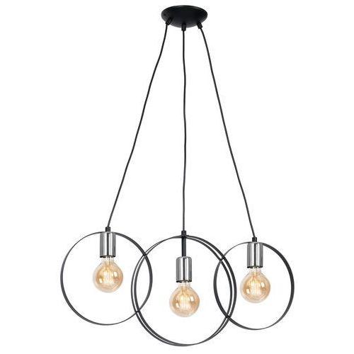 Luminex Olimp 1295 lampa wisząca zwis 3x60W E27 czarny / chrom, 1295