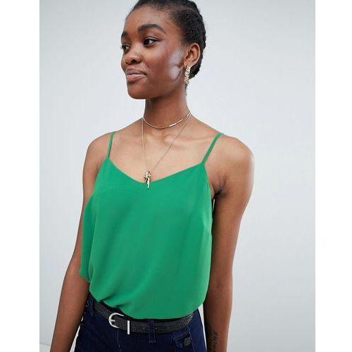 New Look Strappy Cami Top - Green, kolor zielony