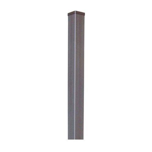 Goodhome Słupek neva aluminium 95 x 7 x 7 cm taupe (3663602432142)