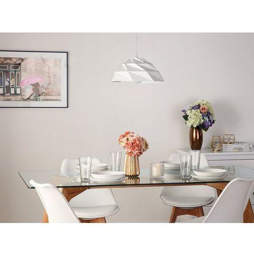 Lampa wisząca metalowa biała RUBICON, kolor Biały
