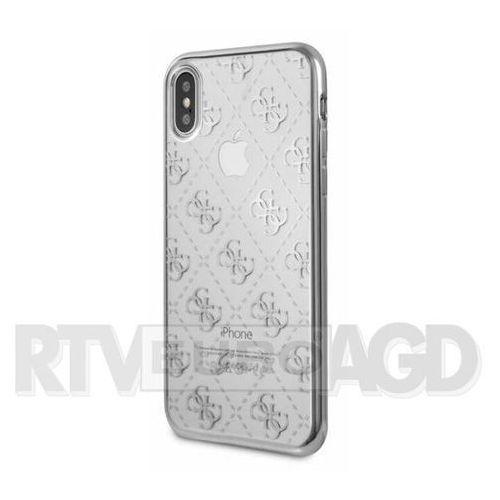 Guess 4G Transparent - Etui iPhone X (srebrny), GUHCPXTR4GSI