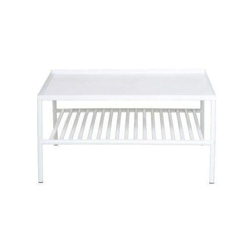 Grid metalowy stolik kawowy, biały - Bloomingville (5711173147205)