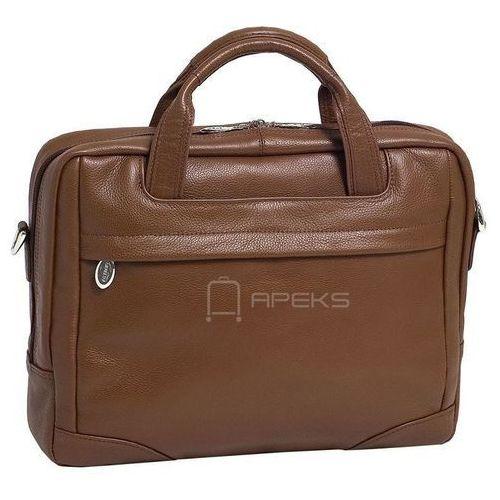 """bronzeville skórzana torba na laptopa 15,4"""" - brązowy marki Mcklein"""