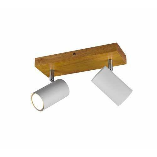 marley 812400231 plafon lampa sufitowa 2x35w gu10 biały mat/drewno marki Trio