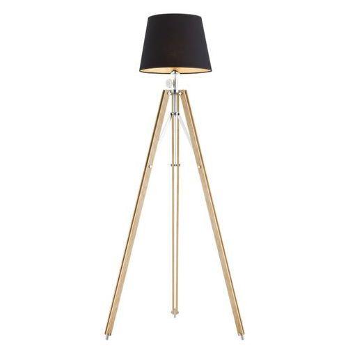 Argon Lampa podłogowa aster 3421 stojąca 1x60w e27 drewno / czarna