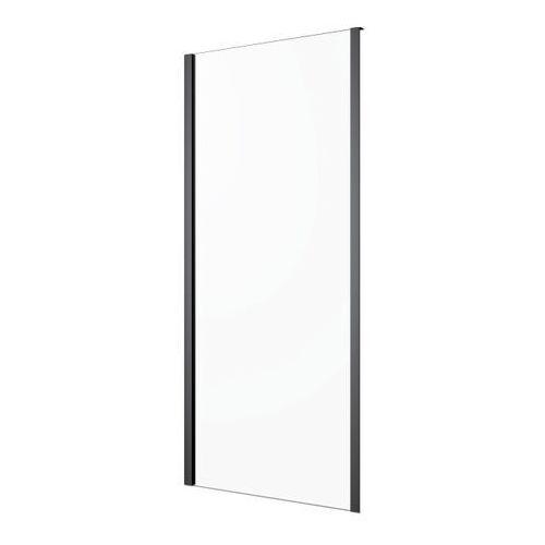 Ścianka prysznicowa GoodHome Beloya 80 cm czarna/transparentna