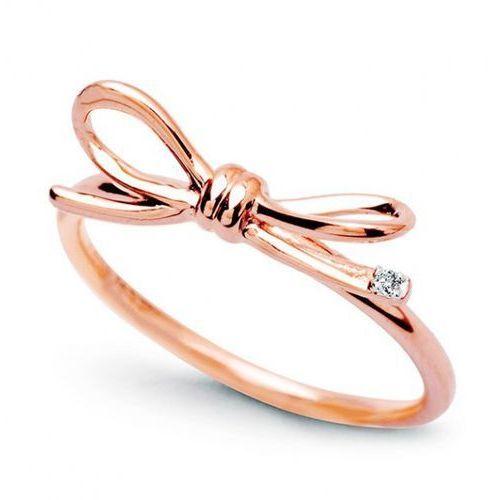 Złoty pierścionek prd4203 - diament marki Staviori