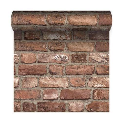Grandeco Tapeta vintage brick 3d czerwona imitacja cegły winylowa na flizelinie