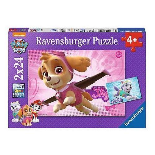 Ravensburger Puzzle 2x24 elementy - psi patrol skye i everest -