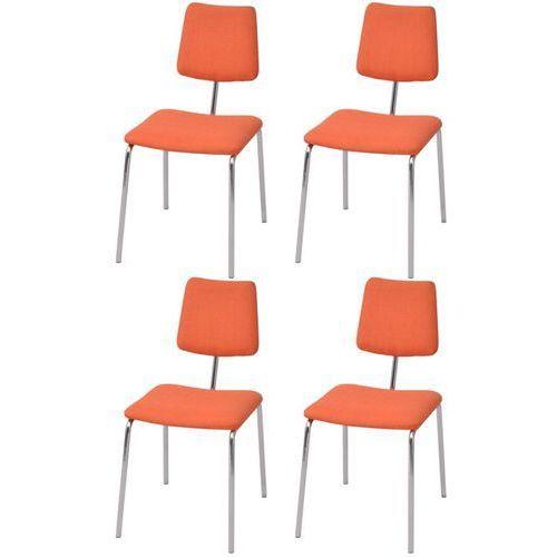 Vidaxl krzesła jadalniane materiałowe, pomarańczowe, 4 szt. (8718475550051)