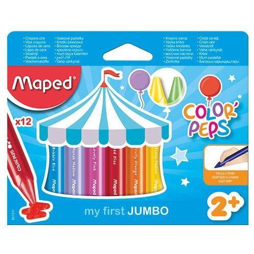 Kredki colorpeps świecowe jumbo 12 kolorów marki Maped