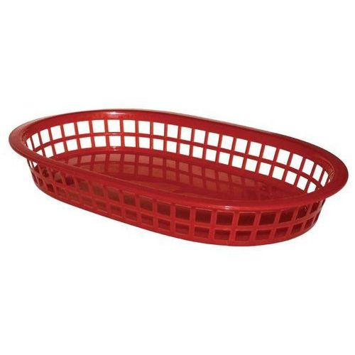 Kosz polipropylenowy czerwony | 6 szt. | 27,5x17,5x(H)4cm