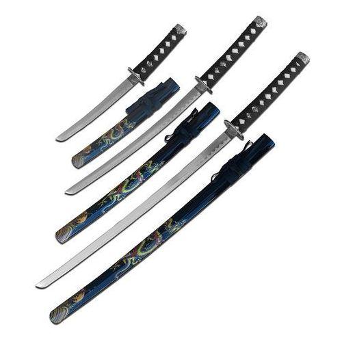 Usa Zestaw mieczy samurajskich katana, wakizashi, tanto sw-85bk-4