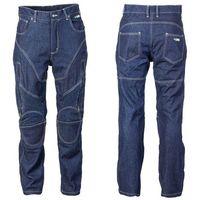 Męskie jeansy motocyklowe z kevlarem nf-2931, ciemny niebieski, xl marki W-tec