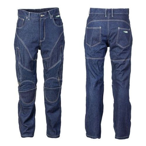 Męskie jeansy motocyklowe z kevlarem nf-2931, ciemny niebieski, l marki W-tec