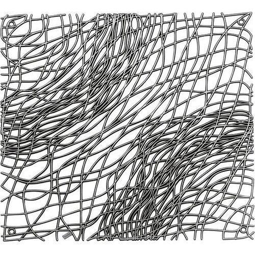 Koziol Panel dekoracyjny silk 4 szt. antracytowy transparentny (4002942324561)