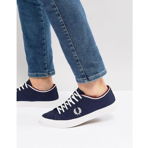 kendrick canvas plimsolls in navy - navy marki Fred perry