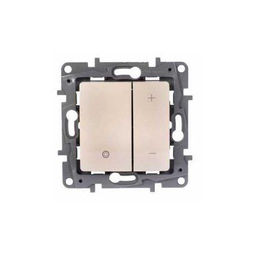Ściemniacz przyciskowy niloe 665214 uniwersalny 2-przewodowy kremowy marki Legrand