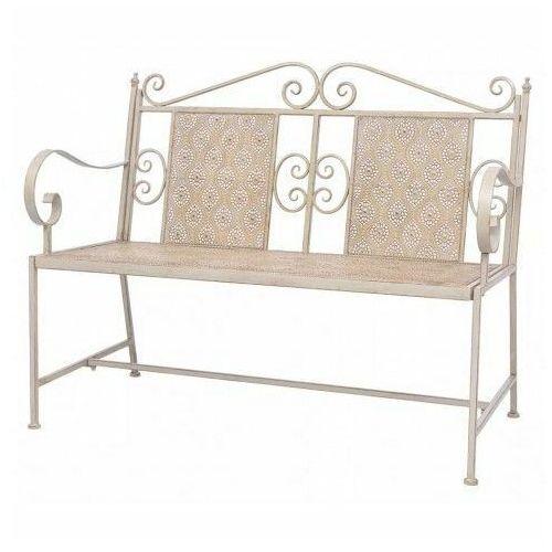Metalowa ławka ogrodowa Baldar - biała