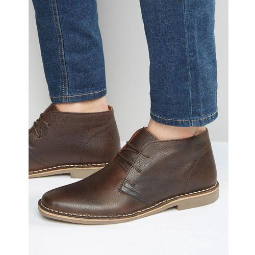 desert boots in brown leather - brown marki Red tape