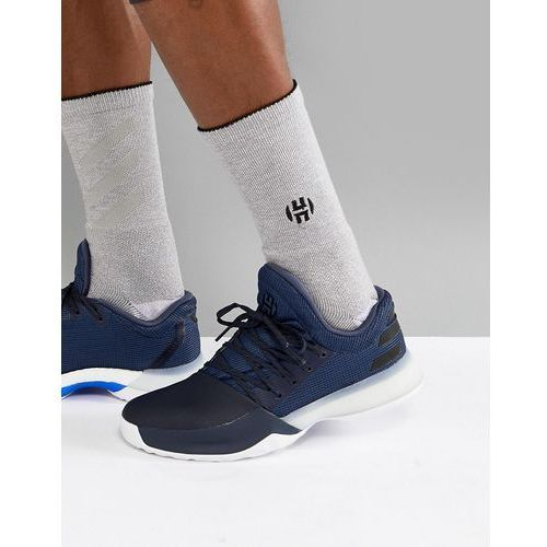 basketball x harden vol 1 challenger trainers in navy ah2120 - navy, Adidas