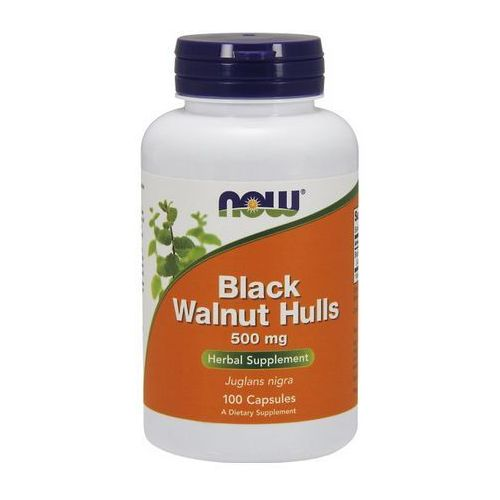 Now Foods Black Walnut Hulls (Czarny Orzech) 500mg 100 kaps.
