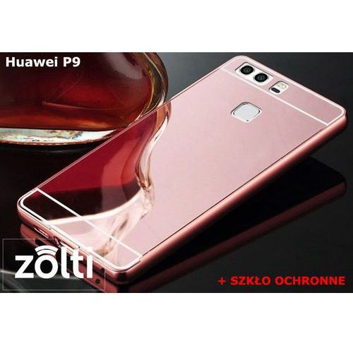 Zestaw | Mirror Bumper Metal Case Różowy + Szkło ochronne Perfect Glass | Etui dla Huawei P9 - sprawdź w wybranym sklepie