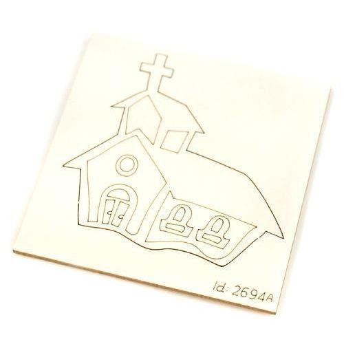 Scrapiniec Kościół 5x5 cm