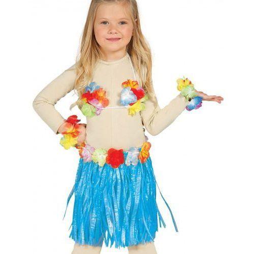 """Zestaw hawajski dla dziewczynki """"Hawaii Party"""" niebieski"""